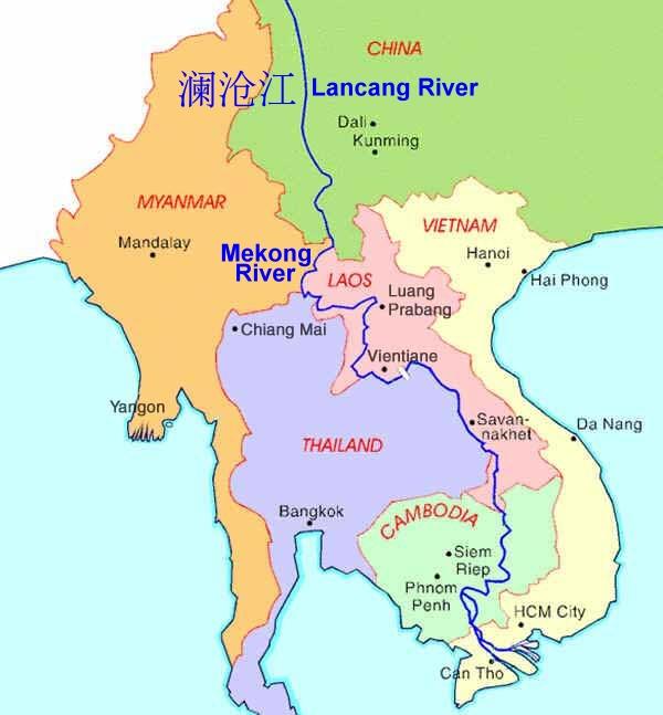 The Mekong River \u2014 Life Blood Of Southeast Asia Silk Roads And: Mekong River Map Asia At Infoasik.co