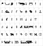 old_egypt_glyphs_map