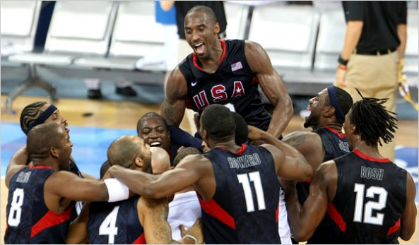 Team USA celebrates the Gold