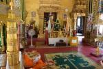 """Monk and """"Emerald"""" Buddha at Wat Simuang"""