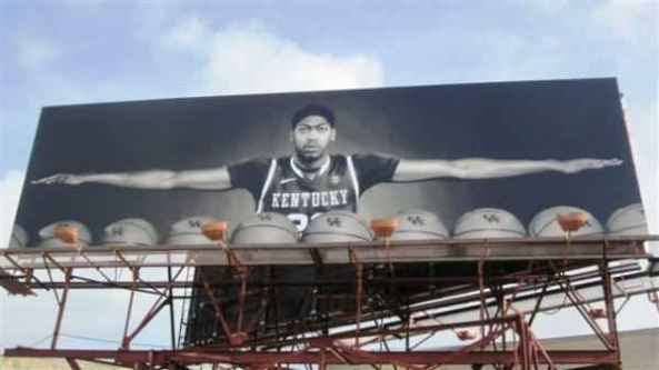 Anthony Davis Billboard at the Super Dome in New Orleans