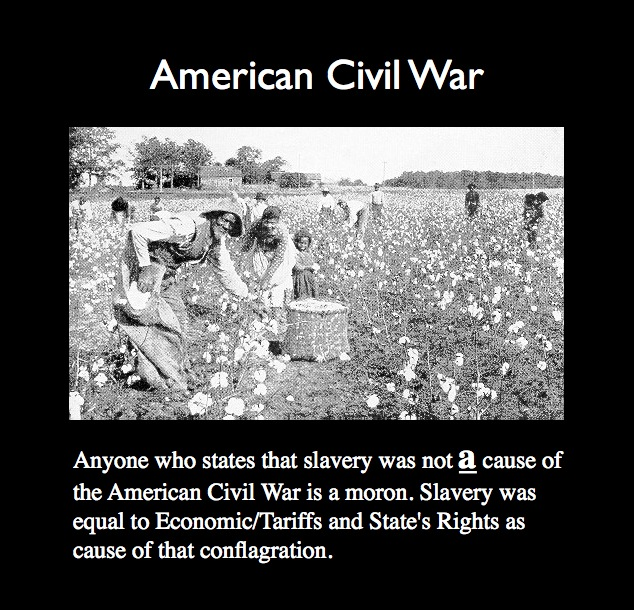 the true causes of the american civil war There are many causes that led to the american civil war while slavery is generally cited as the main cause for the war, other political and cultural differences between the north and the south certainly contributed below we will discuss some of these differences and how they created a divide .