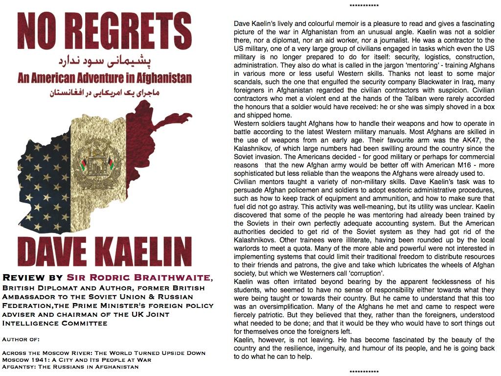 No Regrets Reviewed by Sir Rodric Braithwaite