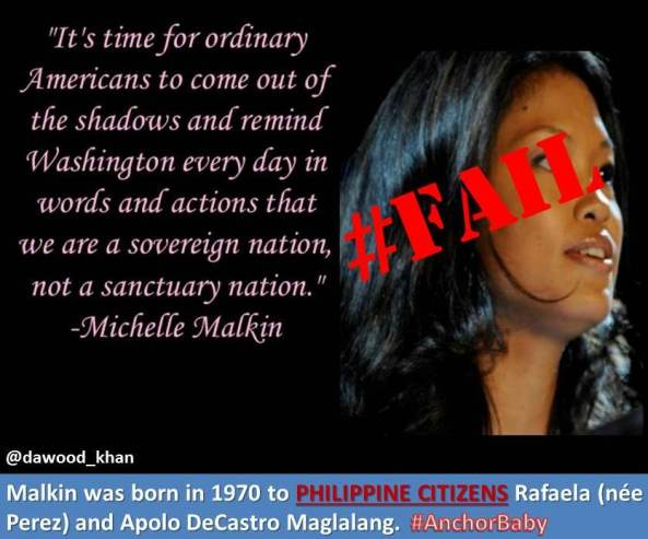 Was Michelle Malkin an Anchor Baby