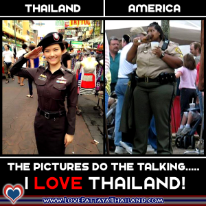 American Fat Ass Cop vs Thai Cops