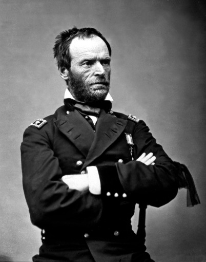 Gen. William T. Sherman, ca. 1864-65. Mathew Brady Collection. (Army) Exact Date Shot Unknown NARA FILE #: 111-B-1769 WAR & CONFLICT BOOK #: 125