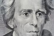 A close-up of Andrew Jackson on a $20 bill pictured on May 21, 2015. A group known as 'Women on 20s' wants Harriet Tubman to replace Jackson due to his support for the Indian Removal Act of 1830, and the year 2020 will mark the 100th anniversary of the 19th Amendment, which gave women the right to vote. (Photo by Alex Milan Tracy) *** Please Use Credit from Credit Field ***
